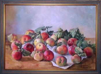 """""""Торопецкие яблоки"""". Холст, масло. 50х70 см"""