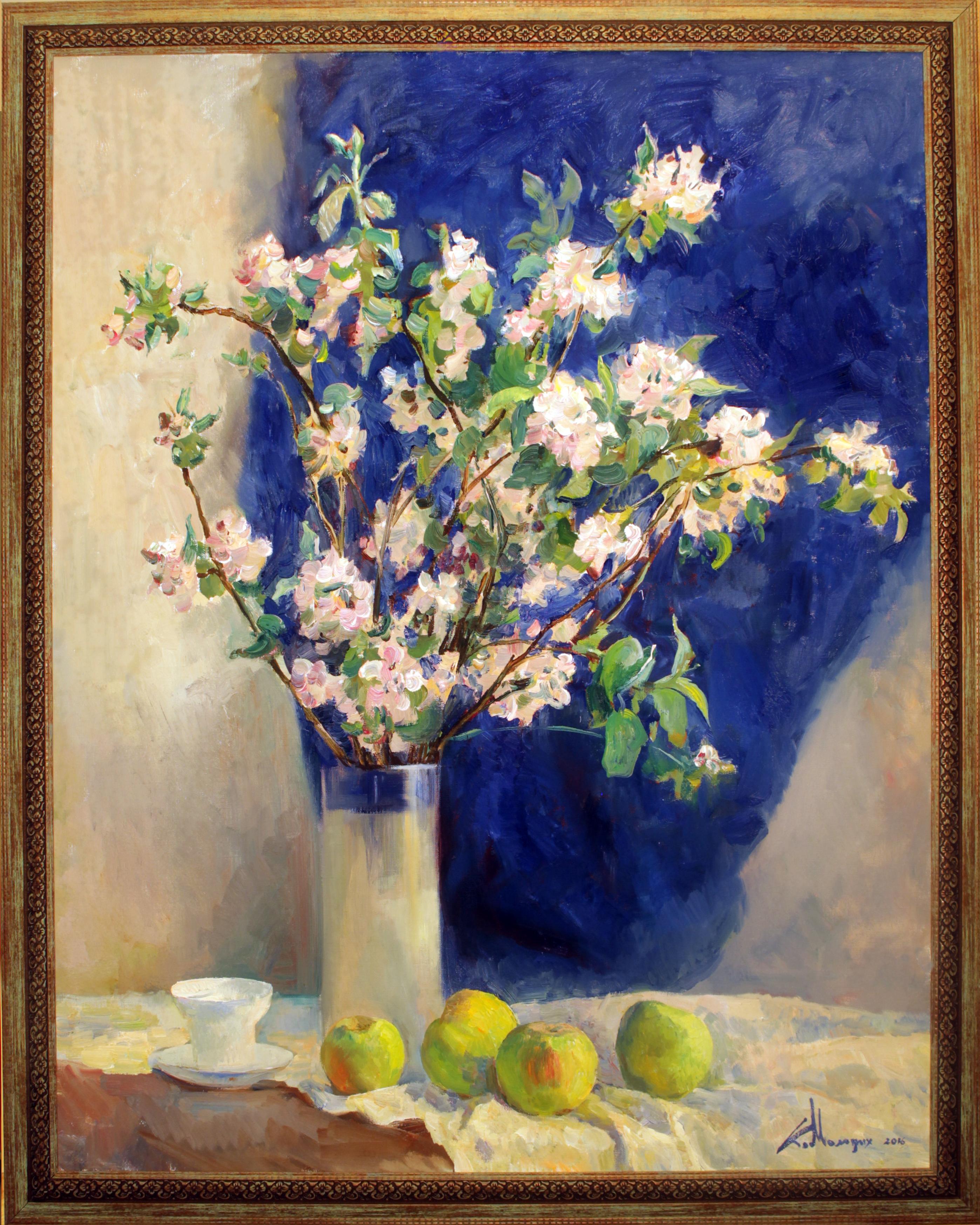 """""""Яблоня в цвету"""" Холст, масло. 100х80 см"""