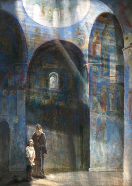 """""""Храм"""".  Холст, масло.   220х160 см.  2007 г."""