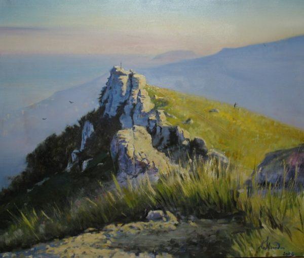 """Гора Демержди, Крым"".  Холст, масло.  100х120 см.  2005 г."