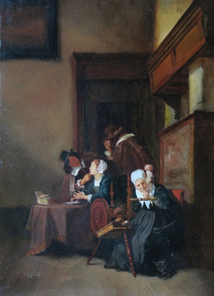 """""""Копия голландской живописи"""".  Холст, масло.  2008 г."""