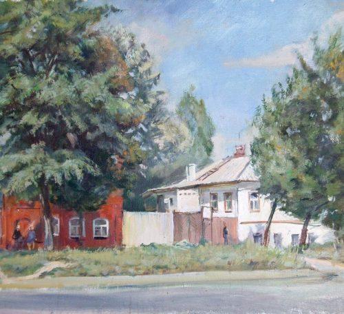 """Улица Белгорода"".  Холст, масло.  60х80 см.  2006 г."