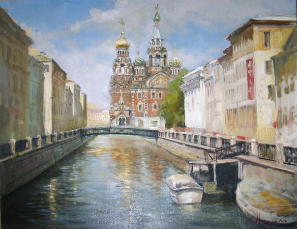 """Спас-на-Крови, Санкт-Петербург"".  Холст, масло."