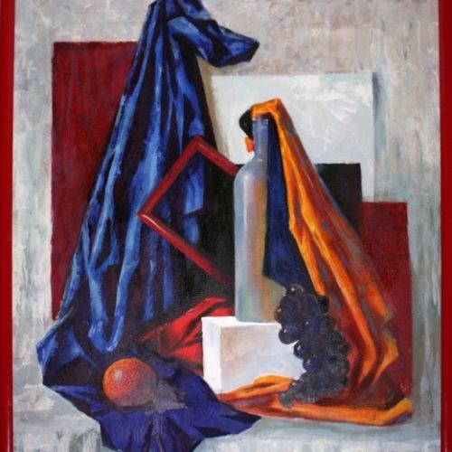 """""""Натюрморт с красной рамой"""".  Холст, масло.  2010 г."""