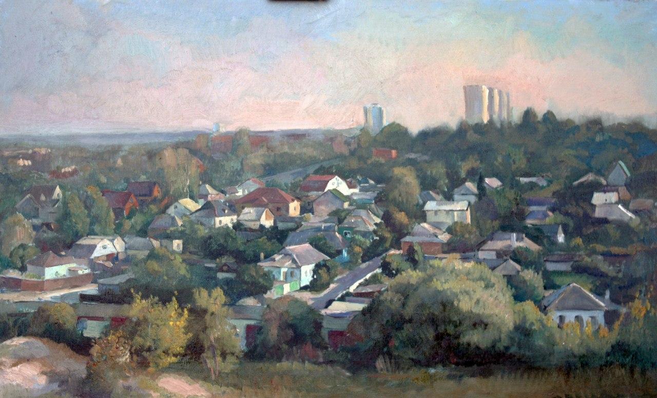 """""""Белгород. Вид с Меловой горы"""".  Холст, масло.  2012 г."""