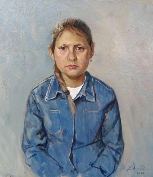 """""""Портрет Лены"""".  Холст, масло. 50х60 см."""