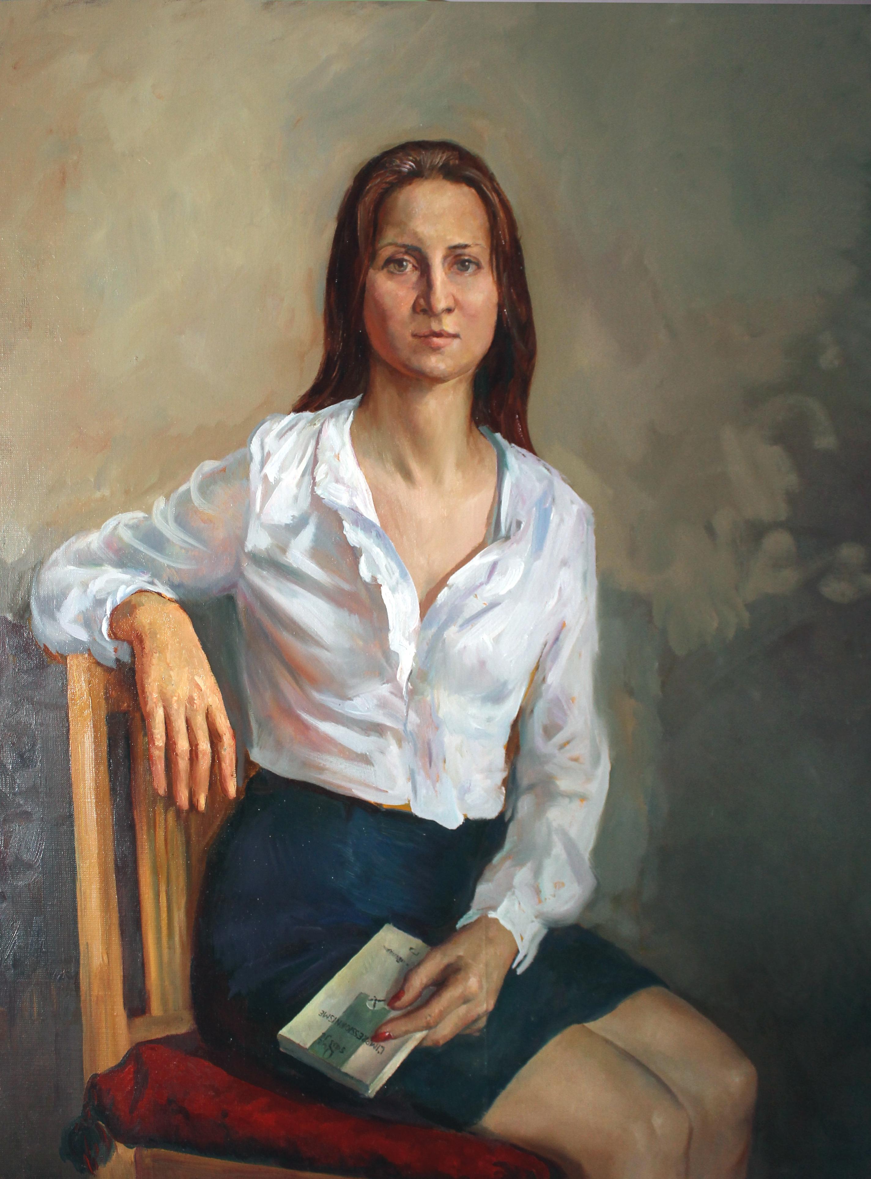 """""""Портрет Анны"""".  Холст, масло. 90х70 см."""